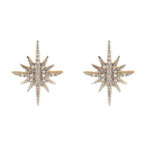 14k Gold Vermeil Diamond Starburst Stud Earrings. 180.00 Diamond, earrings, Gold, over-80, Studs, Valentines