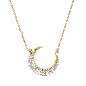 14k Gold Vermeil Celestial Moon Necklace