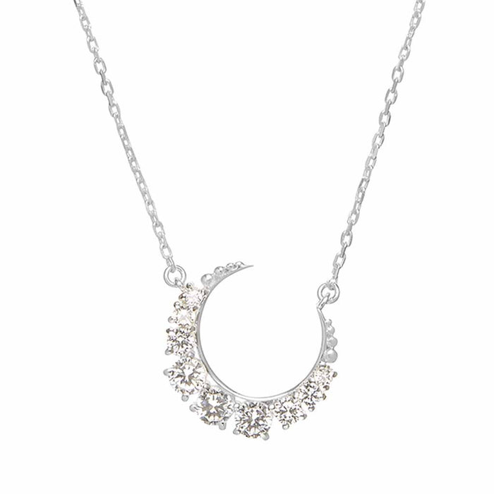 Sterling Silver Celestial Moon Necklace