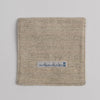 Hand woven cotton coaster - yellow & pink, back