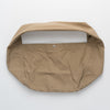 Cotton shoulder bag in light brown, flat