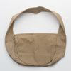Cotton messenger bag in light brown, flat