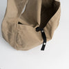 Cotton messenger bag in light brown, inside