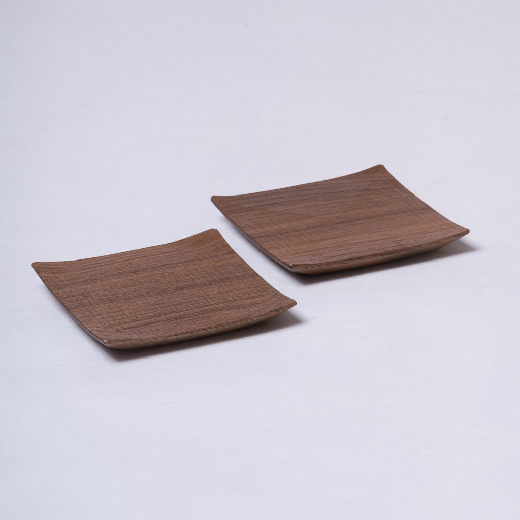 Furui Tomokazu Coaster - handmade walnut, rippled surface