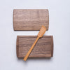 Tomokazu Furui, Butter case & butter knife - handcrafted walnut & camellia woods