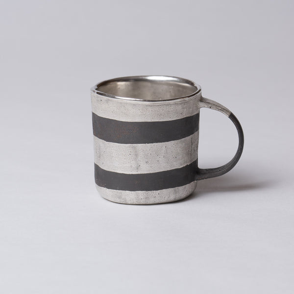 Yoshimitsu Nakasono, Mug with silver & black stripes