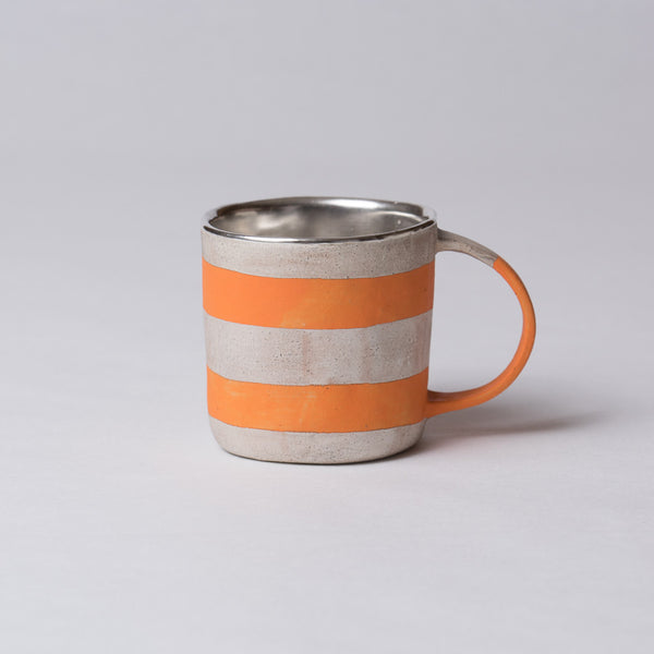 Yoshimitsu Nakasono, Mug with silver & orange stripes