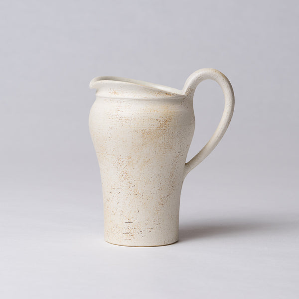 Yuko Matsuzuka, Pitcher in cream glaze flecked with ochre