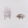 Mariko Kitano, Pin badge in solid silver featuring Pitter-patter Wild Boar Piglet