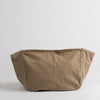 Cotton messenger bag in light brown, back