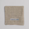 Hand woven cotton coaster - blue & salmon, back