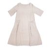Linen dress in natural color, front