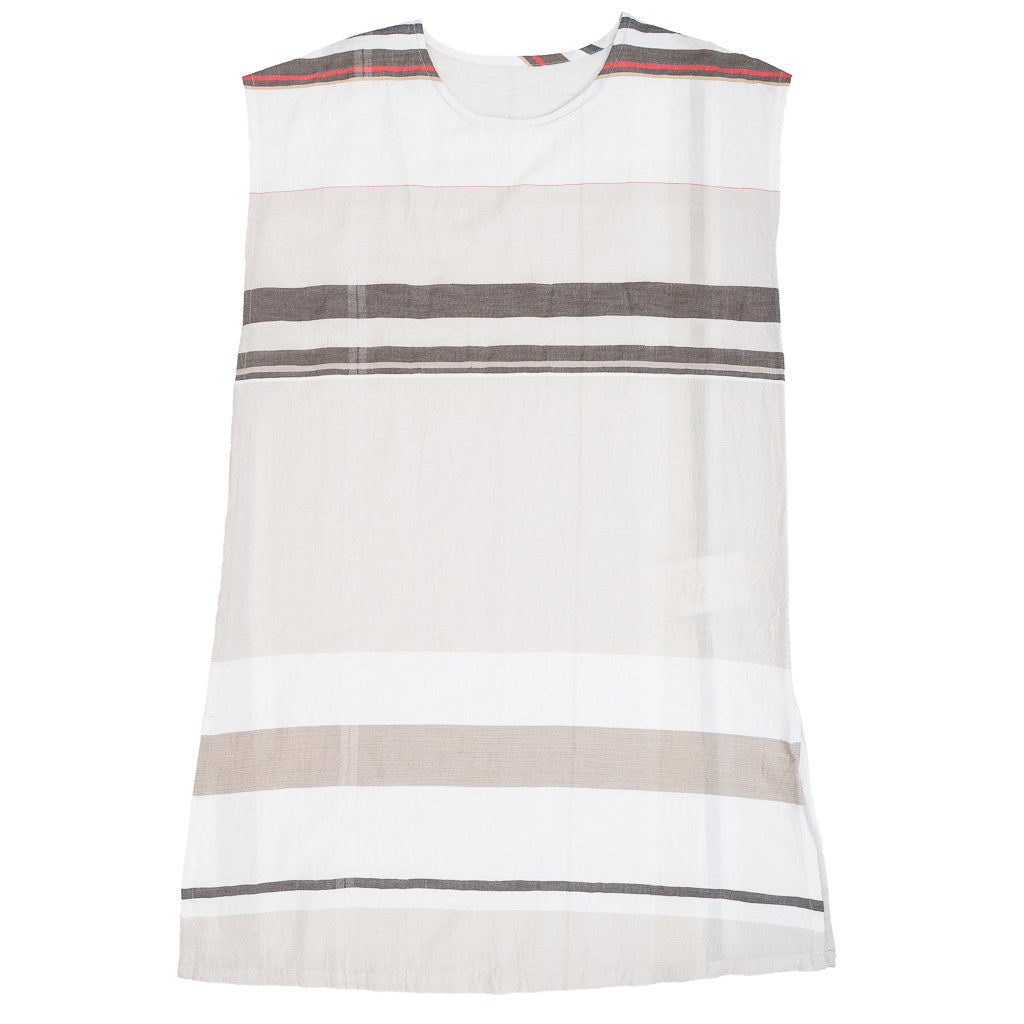 """Only One"" Suton-T cotton summer dress - red stripe, front"