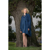 Organic cotton gathered tunic dyed naturally with indigo