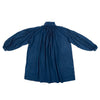 Organic cotton gathered tunic dyed naturally with Indigo, back