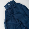 Organic cotton gathered tunic dyed naturally with Indigo, cuff