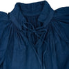 Organic cotton gathered tunic dyed naturally with Indigo, neckline