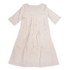 Linen dress in natural color, back