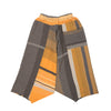 """Only One"" Tarun pants (divided skirt) long in wool & cotton - orange & brown, normal 2"