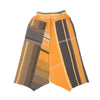 """Only One"" Tarun pants (divided skirt) long in wool & cotton - orange & brown, normal 1"