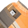 """Only One"" Tarun pants (divided skirt) long in wool & cotton - orange & brown, pocket 1"