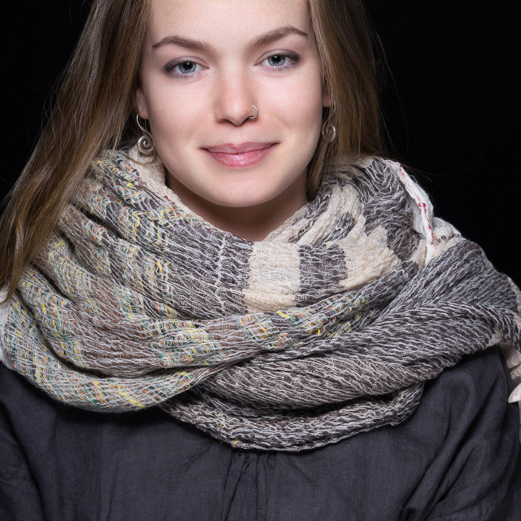 """Only One"" Cotton Shawl - beige"