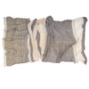 """Only One"" Cotton Shawl - beige, crumpled"