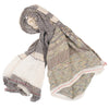 """Only One"" Cotton Shawl - beige, rolled"