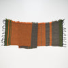 "Scarf ""Roots Shawl"" in wool & cotton - orange & green, flat 2"