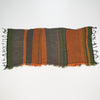 "Scarf ""Roots Shawl"" in wool & cotton - orange & green, flat 1"