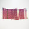 "Scarf ""Roots Shawl"" in wool & cotton - pink & chocolate brown, flat 1"