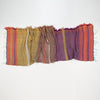"Scarf ""Roots Shawl"" in wool & cotton - purple & khaki, crumpled"