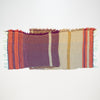 "Scarf ""Roots Shawl"" in wool & cotton - purple & khaki, flat"