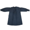 Linen shirt dress dyed naturally with Indigo & Japanese sumac, back