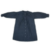 Linen shirt dress dyed naturally with Indigo & Japanese sumac, front