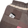 """Only One"" Tarun pants (divided skirt) long in wool & cotton - brown & pink, pocket 1"