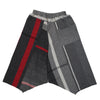 """Only One"" Tarun pants (divided skirt) long in wool & cotton - red & black, normal 1"