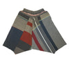 """Only One"" Tarun pants (divided skirt) short in wool & cotton - red & blue, normal 1"