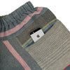 """Only One"" Tarun pants (divided skirt) short in wool & cotton - red & blue, pocket 1"