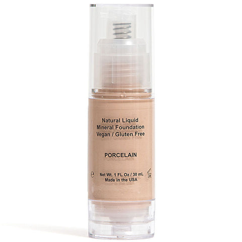 All Natural Organic Vegan Gluten Free Non GMO Concealer Light Liquid Foundation