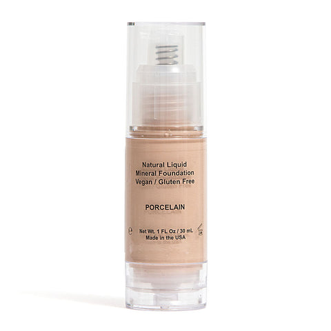 MINERAL LIQUID FOUNDATION - All Natural, Organic, Vegan & Gluten Free, No GMO