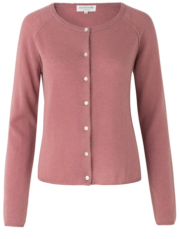 Rosemunde basic cardigan Pale rose