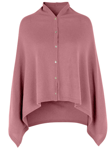 Uld/cashmere poncho AW/20, Pale Rose