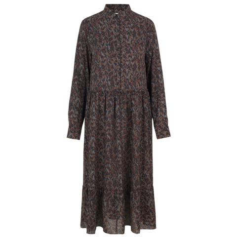 Munthe Holland dress AW/19 printet brown