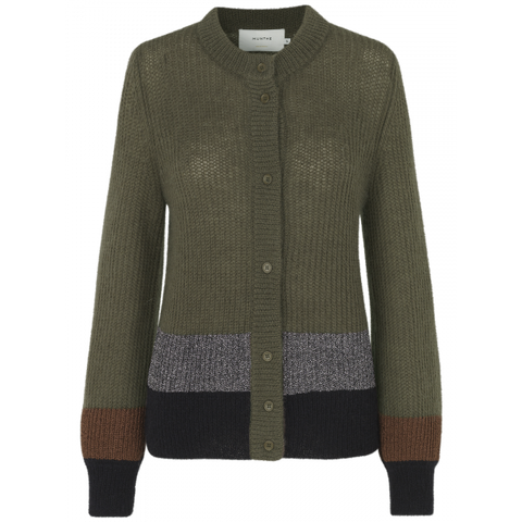 Munthe Hip cardigan AW/19 old brass (green)