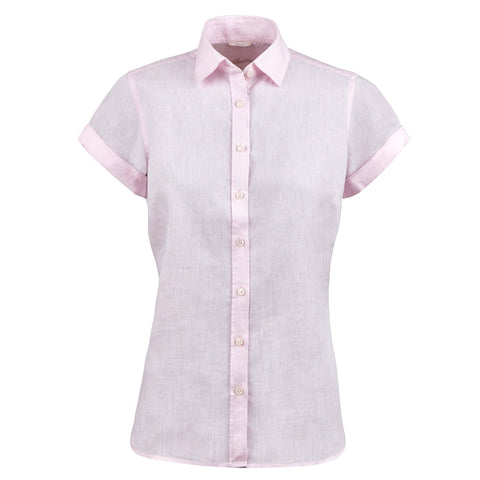 Steffi short sleeve linen shirt, SS/21 light pink