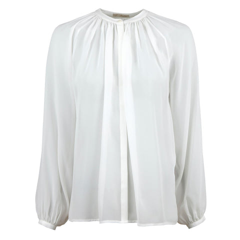 Stenströms silk blouse 120 years  AW/19 white