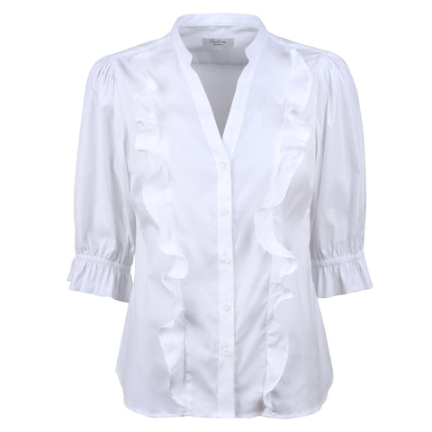 Stenströms Agnes blouse w/stretch, SS/21 white