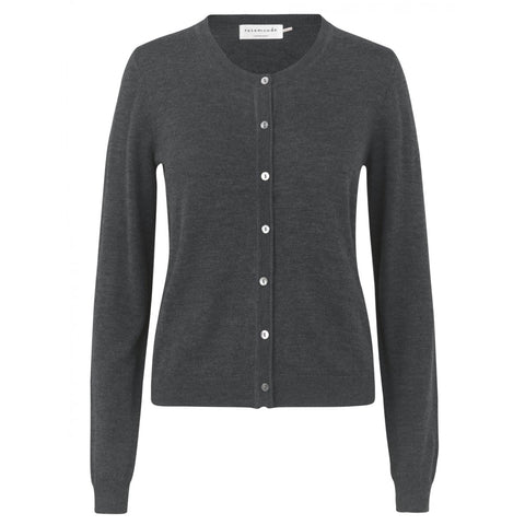 Rosemunde uld cardigan Basic dark grey melange