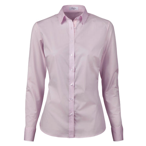 Slimline Shirt With Jersey Back, AW/20 Lt. pink UDSALG (Str. 40)